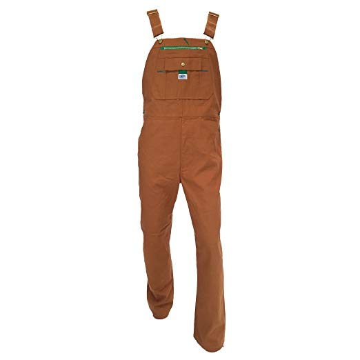 Liberty Brown Duck Bib Overall Mens