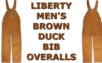 Liberty Men's Brown Duck Bib Overalls