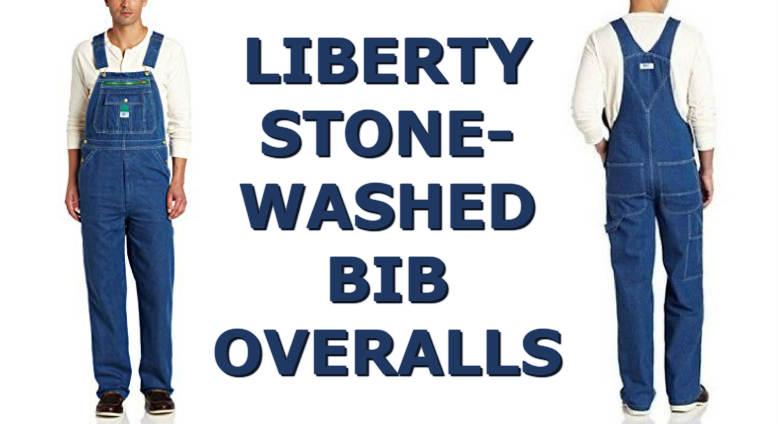 Liberty Men S Stonewashed Denim Bib Overalls Green Zipper Work