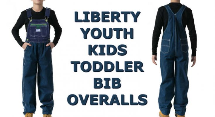 Liberty Youth Kids Toddler Denim Bib Overalls